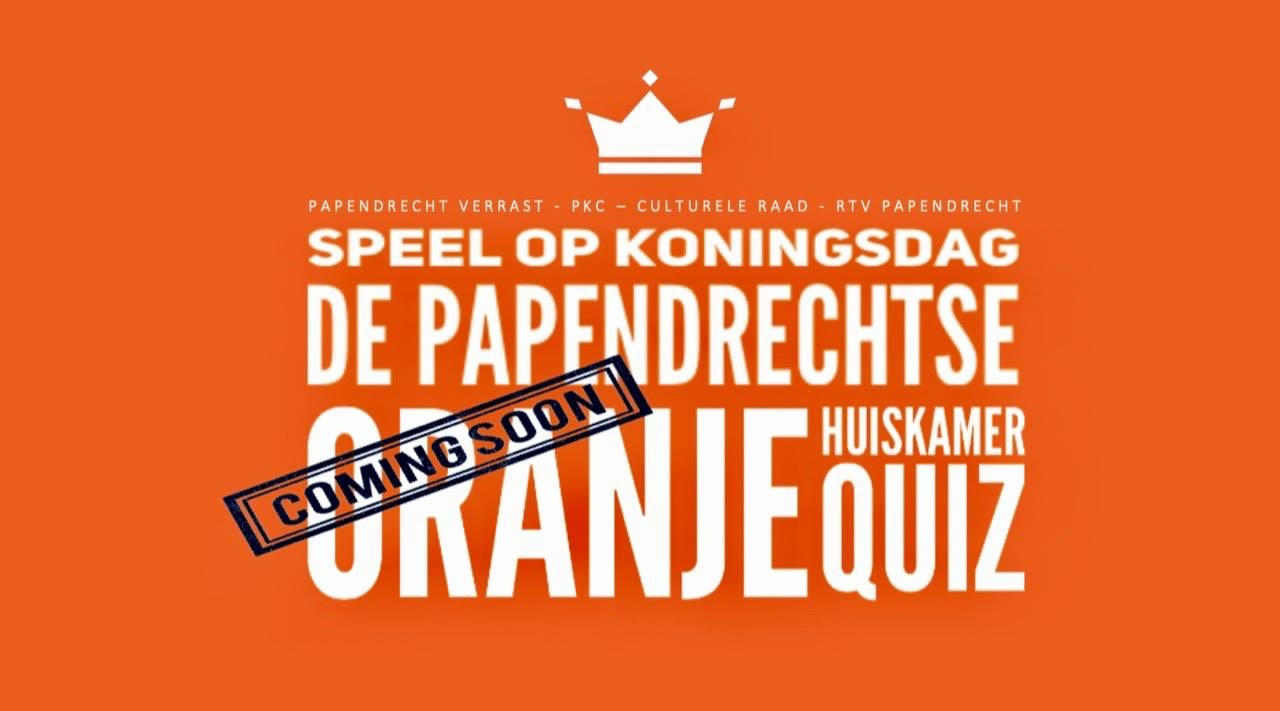 Oranje Huiskamer Quiz op 27 april